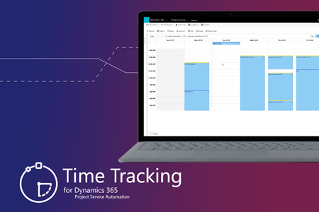 Recording working time with Time Tracking for Dynamics 365